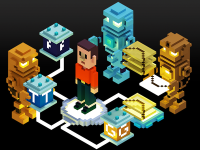 Voxel Art the man and the internet