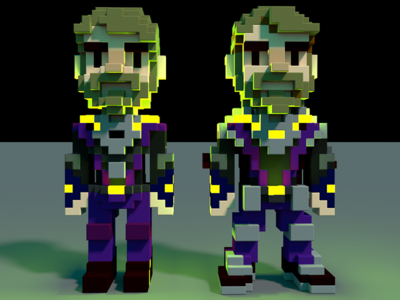 VOXEL powerup characters