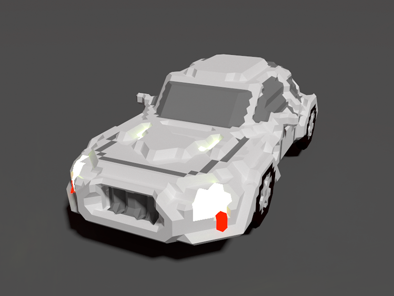 Voxel Car by Ramon Redondo on Dribbble
