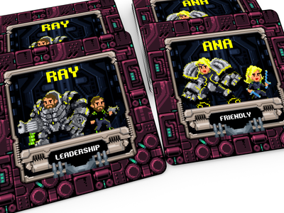 POWERUP Tarot board game illustration powerup pixelart