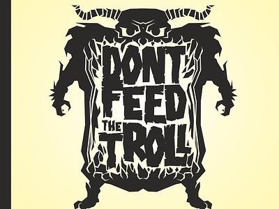 Don`t Feed the Troll Podcast logo branding vector illustration podcast dont feed the troll troll logo