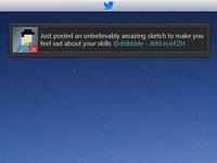 Copying Baws Tweet Idea twitter ui minimal simple