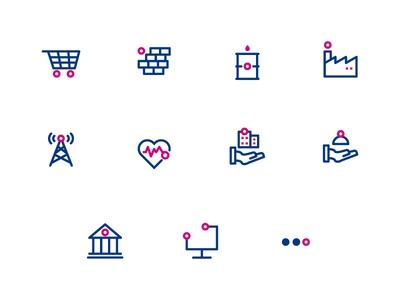 icon set sector @duotone @iconography @trading @sector @ui @icon set @icon