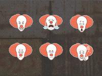 Clown sticker set