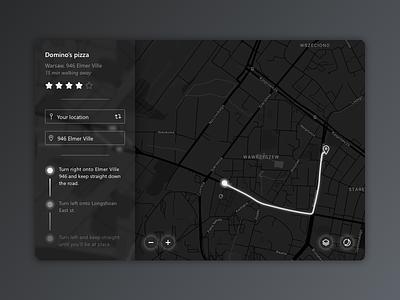 Daily UI #020 - Location Tracker tracker black navigator maps gps location web daily ui ux ui daily dailyui