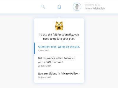 Daily UI #027 — Dropdown menu notification cat emoji list dropdown daily ui ux ui daily