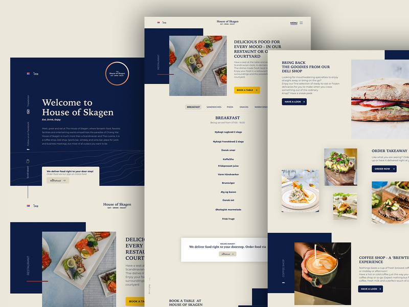 The House of Skagen Restaurant - Mockup Part 2