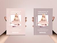 Babykasse.dk A6 flyer layout - Version 1 & 2
