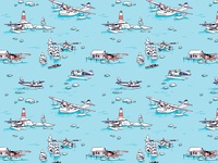 Water planes pattern