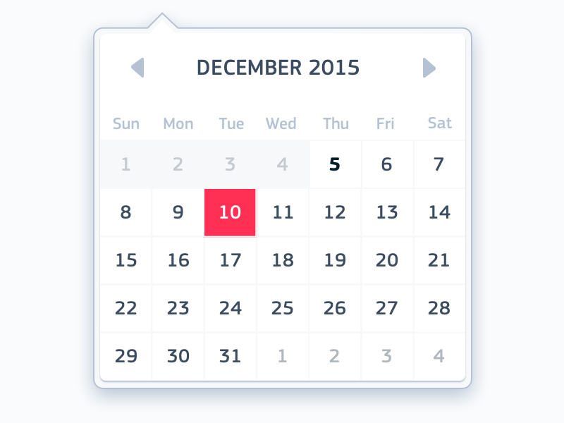 Date picker calendar widget interface date picker clean square sans
