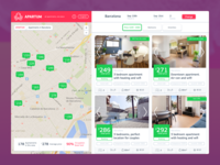 Holiday apartment comparison site - Results listing page