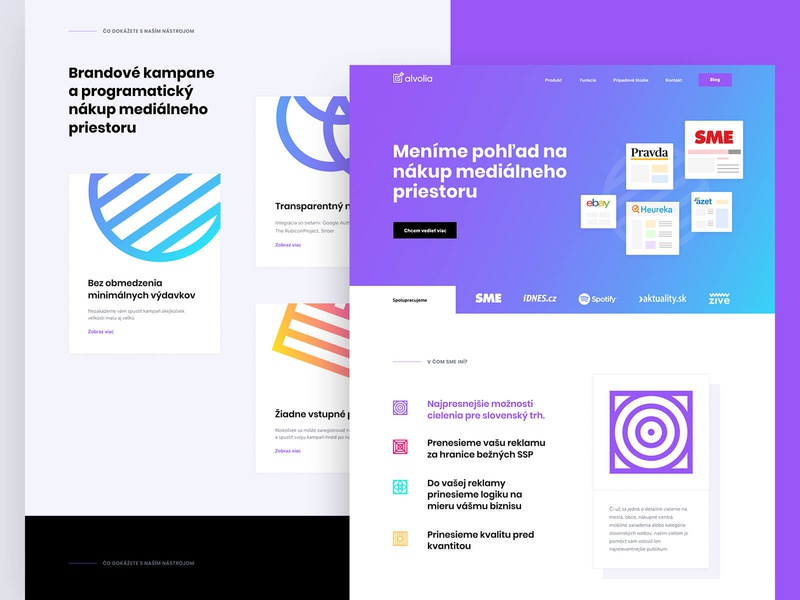 Alvolia — Homepage element target advertisment alvolia website web ux user ui style guide product design payment pay mockups interface gradient experience design dashboard app