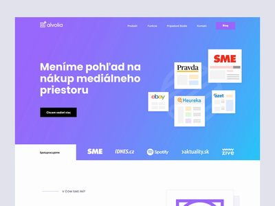 Alvolia — Features element target advertisment alvolia website web ux user ui style guide product design payment pay mockups interface gradient experience design dashboard app