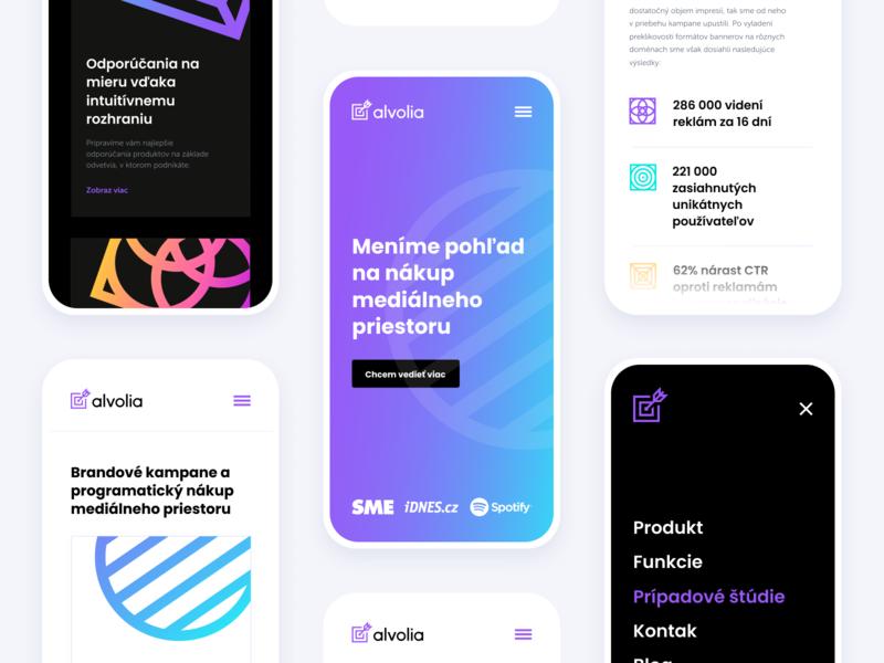 Alvolia — Responsive illustration design logo ui vector branding typography ux icon app web animation flat website minimal brand gradient alvolia startup websites