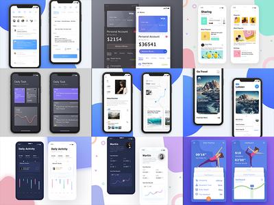 Personal 2017 best work app   iphone   x ui practice interface black white data