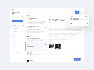 Inbox-03 web ux ui startup shop interface app