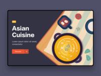 Asian Cuisine design illustration data interface white ui