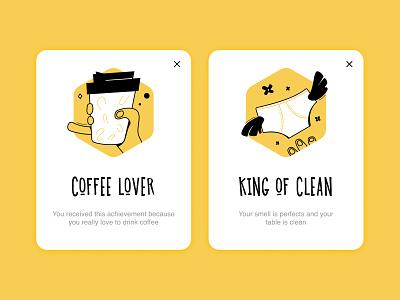 Achievement for company's portal achievements icon achievement illustration art design vector ui illustration
