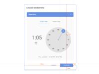 Time Selector modal & Zeplin