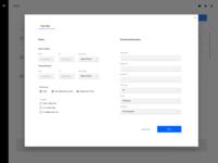 Report data filtering screen