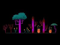 8bit Alien Trees