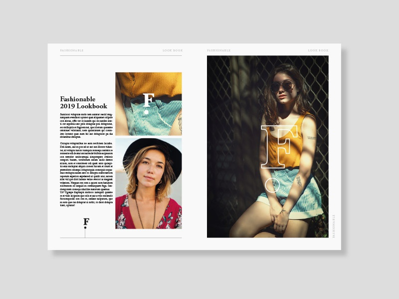 Fashionable Lookbook graphicdesign layoutdesign editorial design layout design belfast dribble