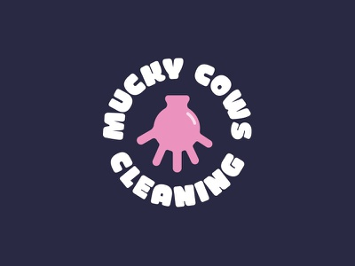 Mucky Cows Cleaning cheeky udder rubber glove cow cleaning logo