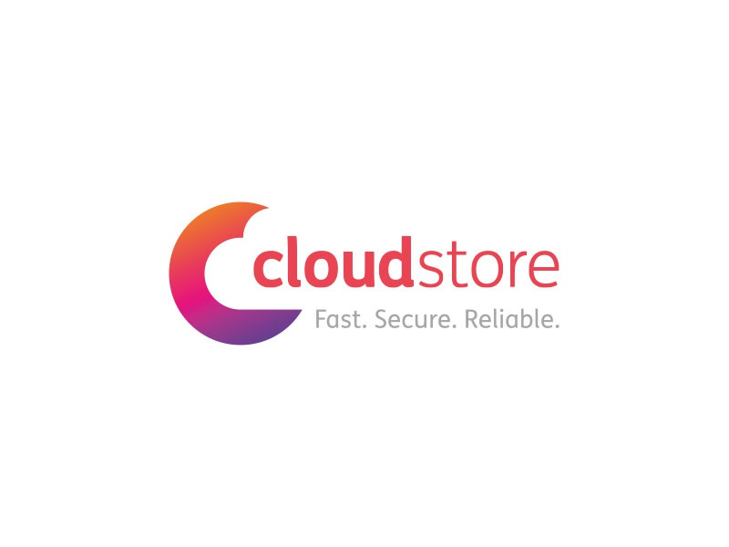 Cloud Store hiddenmeaning negativespace icon c computing cloud