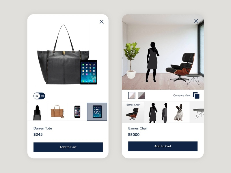 Contextualized Shopping Experience integration product design shop ui visual design mobile iphone