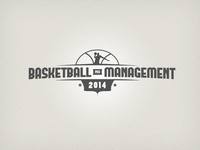 Basketball Pro Management logo Monochrome