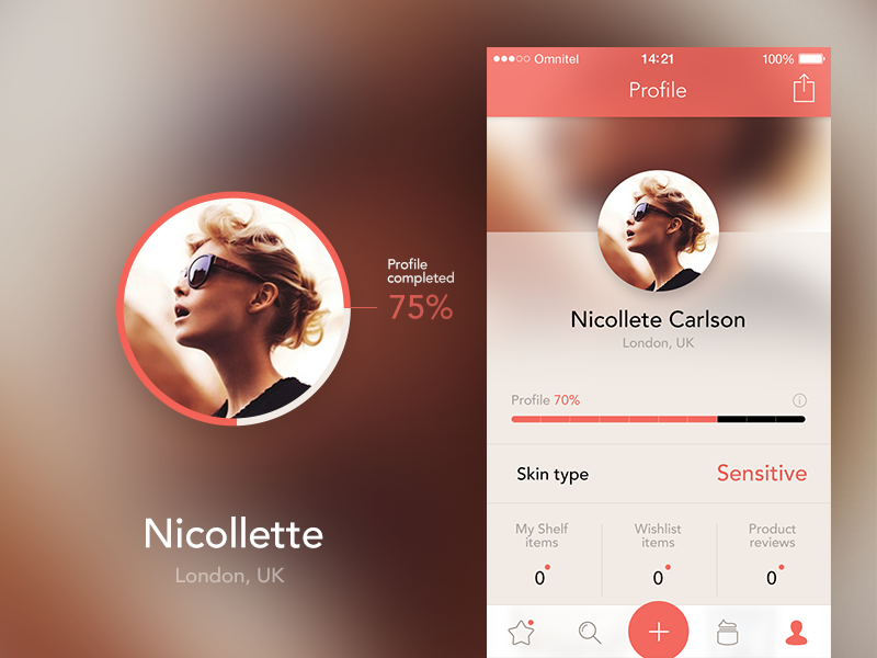 Profile completeness ios iphone all profile skin navigation