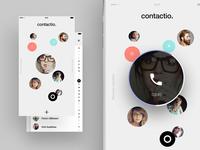 Contacts app concept