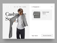 Shopping cart model fabric cloth simple minimalistic minimal ui design shopping ecommerce