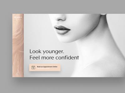 Health & Skin Clinic black and white grey minimal ui design web beauty skin health