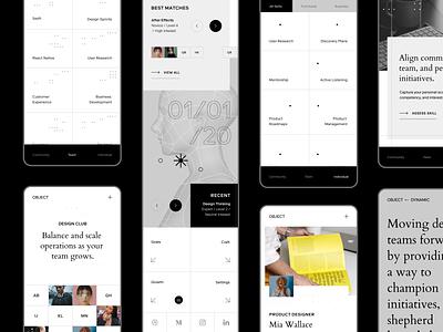 Minimal UI mid-fidelity website typography identity visual design branding ui flat design minimal layout grid clean mobile