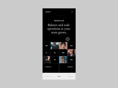 Experimental Prototype Part 1 clean web principle motion design app design typography branding identity ui website animation minimal