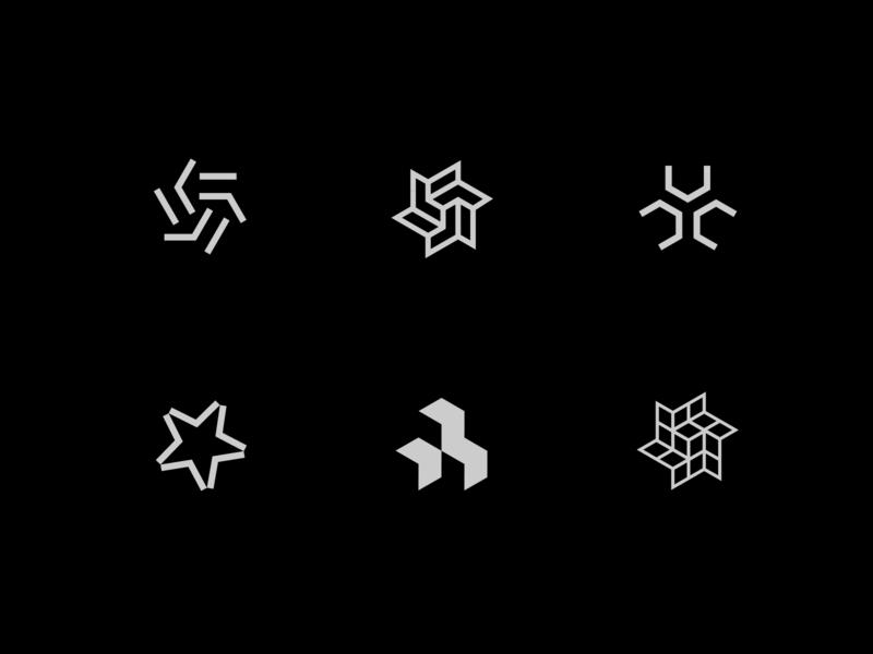 Logo Marks clean space symbol brand sun star mark identity minimal visual design branding logo