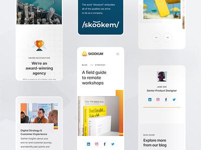 Skookum Mobile Design visual design flat agency typography ui design identity web clean minimal branding retro mobile