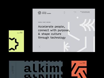 Brand Design studio illustration logo design modern flat web visual design identity typography layout grid branding minimal brand