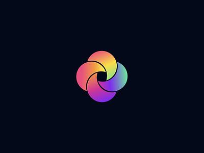 Twisted logo design modern agency logomark logotype flat graphic design clean icon star gradient symbol vector branding logo identity typography minimal design