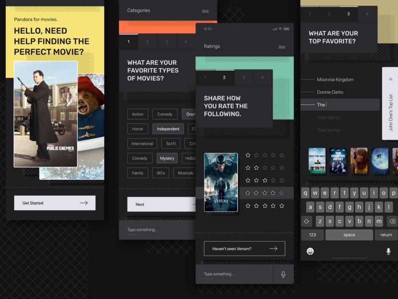 Motion Palace Mobile user interface type identity flat cards visual design vector app branding typography web minimal ui ux design
