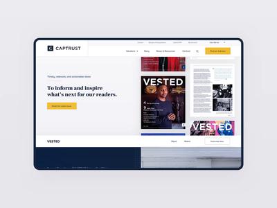 VESTED Landing Page principle webdesign motion design animation visual design vector ui web ux minimal branding flat design