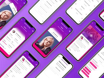 Muster - Hiring on the go gather freelance hiring vector design app ux ui branding