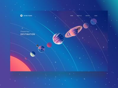 Astro Tours - Destination Selector