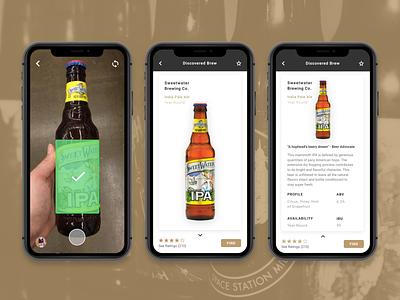 Brewhoo App scan brew beer design app ux ui branding