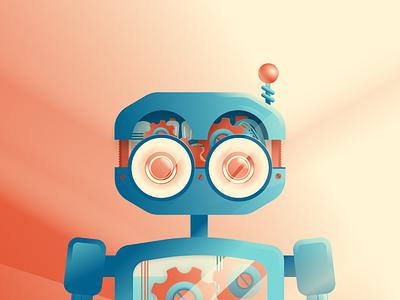 Maintenance Mode figma vector robot illustration