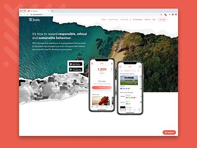 Koin Website Design responsive website ux logo sustainability ui branding website web design design justin marazita esoteric designs