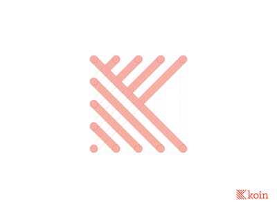 Koin Logo geometric design sustainability slab serif logomark typography pixel perfect vector branding logo justin marazita esoteric designs