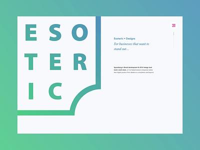 Esoteric • Designs website launch icon minimalism website branding illustration logo design web design justin marazita esoteric designs