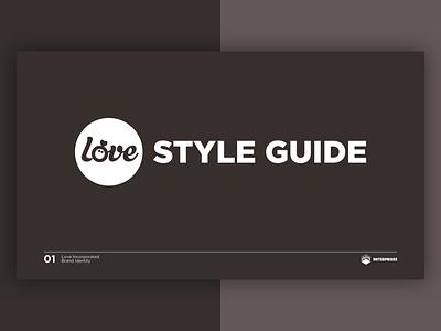 Love Incorporated Styleguide marazita justin marazita esoteric designs minimal clean guide web design print logo colors typography styleguide